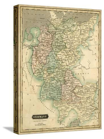 Thomson's Map of Germany-Thomson-Stretched Canvas Print