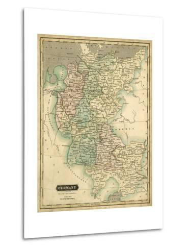 Thomson's Map of Germany-Thomson-Metal Print