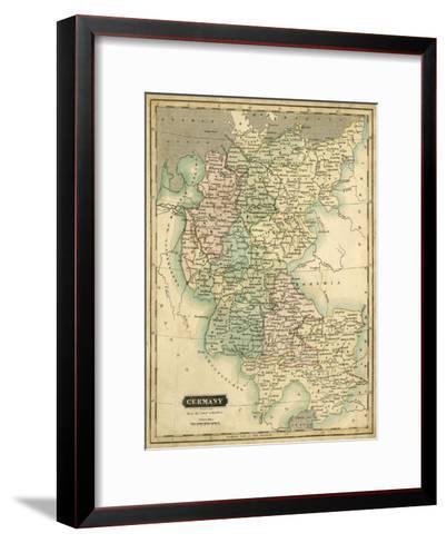 Thomson's Map of Germany-Thomson-Framed Art Print
