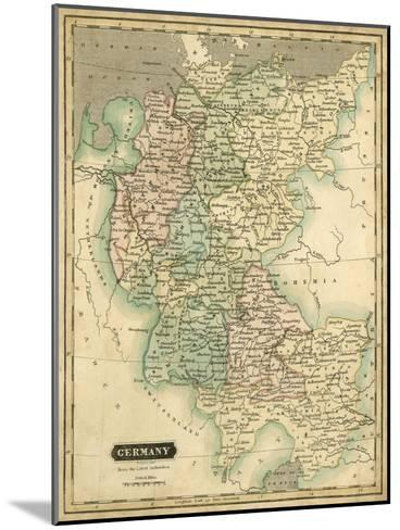 Thomson's Map of Germany-Thomson-Mounted Art Print