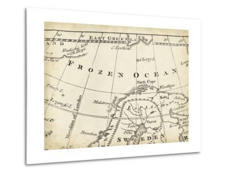Map of Europe Grid II-T^ Jeffreys-Metal Print