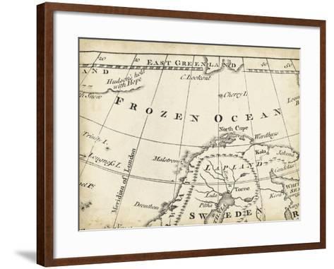 Map of Europe Grid II-T^ Jeffreys-Framed Art Print