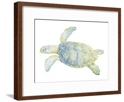 Tranquil Sea Turtle II-Megan Meagher-Framed Art Print
