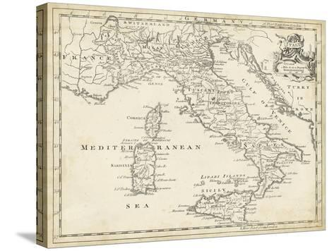 Map of Italy-T^ Jeffreys-Stretched Canvas Print