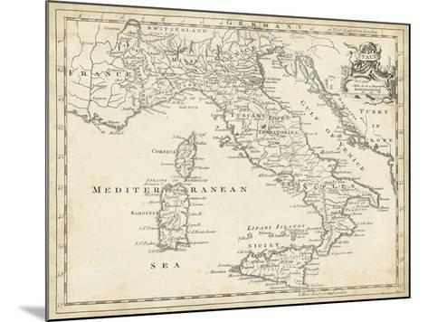 Map of Italy-T^ Jeffreys-Mounted Art Print