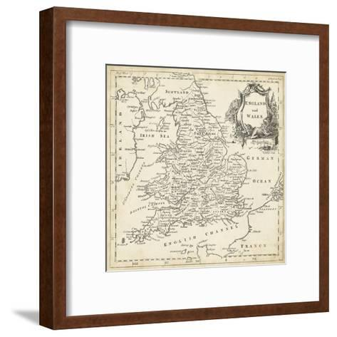 Map of England and Wales-T^ Jeffreys-Framed Art Print