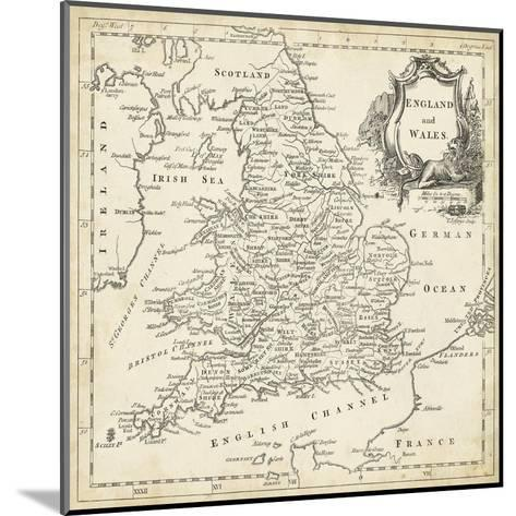 Map of England and Wales-T^ Jeffreys-Mounted Art Print