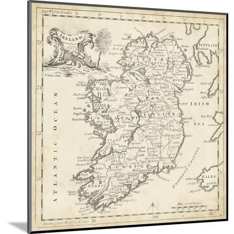 Map of Ireland-T^ Jeffreys-Mounted Art Print