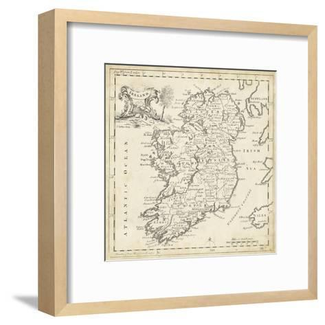 Map of Ireland-T^ Jeffreys-Framed Art Print
