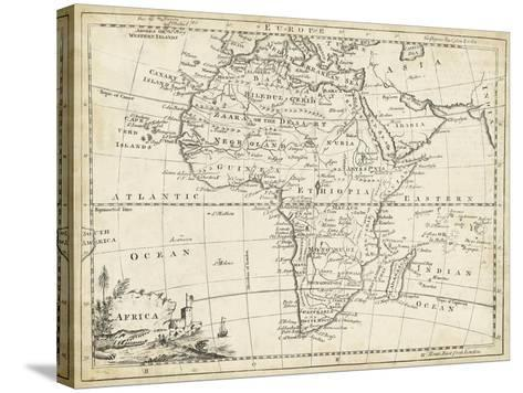 Map of Africa-T^ Jeffreys-Stretched Canvas Print