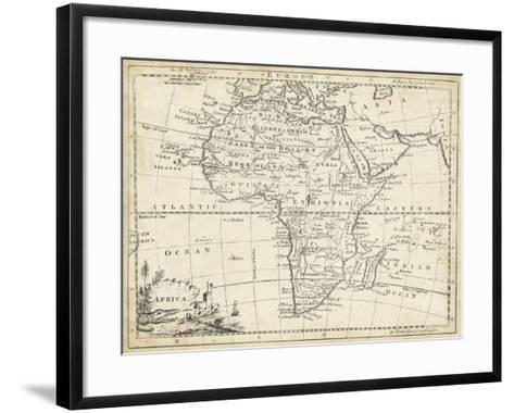 Map of Africa-T^ Jeffreys-Framed Art Print