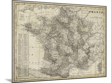 Antique Map of France-Vision Studio-Mounted Art Print