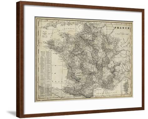 Antique Map of France-Vision Studio-Framed Art Print
