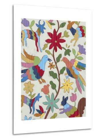 Otomi Embroidery I-Chariklia Zarris-Metal Print