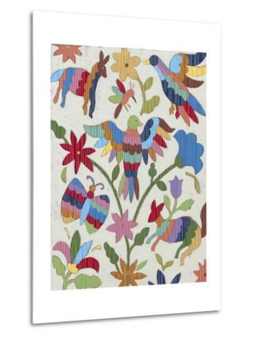 Otomi Embroidery II-Chariklia Zarris-Metal Print