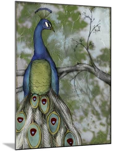 Peacock Reflections II-Jennifer Goldberger-Mounted Art Print