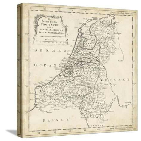 Map of Netherlands-T^ Jeffreys-Stretched Canvas Print
