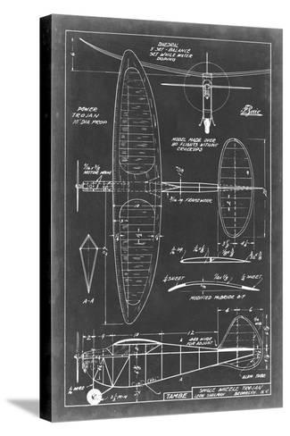 Aeronautic Blueprint I-Vision Studio-Stretched Canvas Print
