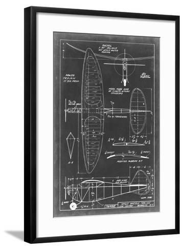 Aeronautic Blueprint I-Vision Studio-Framed Art Print