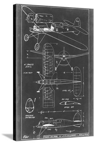 Aeronautic Blueprint II-Vision Studio-Stretched Canvas Print
