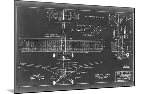 Aeronautic Blueprint VIII-Vision Studio-Mounted Art Print