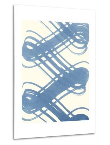 Macrame Blue I-Vanna Lam-Metal Print