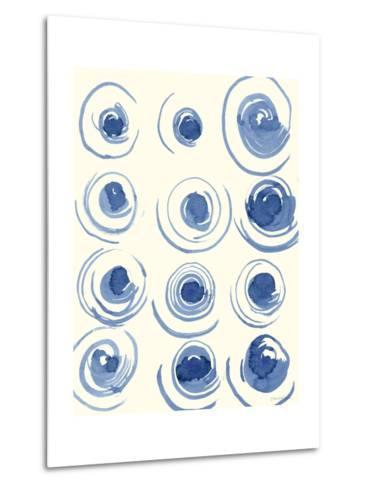 Macrame Blue II-Vanna Lam-Metal Print
