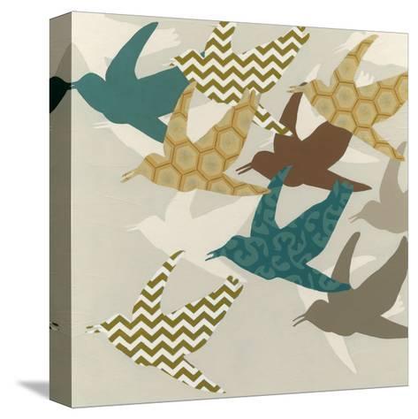 Patterned Flock II-Erica J^ Vess-Stretched Canvas Print