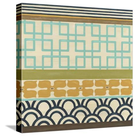 Non-Embellish Geometric Frieze III-Erica J^ Vess-Stretched Canvas Print