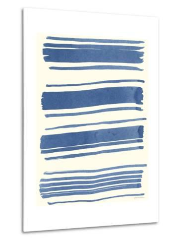 Macrame Blue III-Vanna Lam-Metal Print