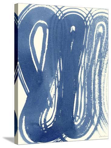 Macrame Blue V-Vanna Lam-Stretched Canvas Print