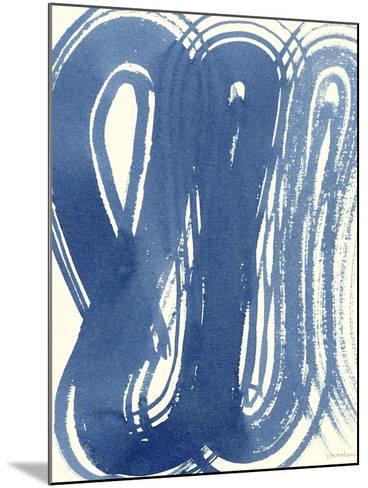 Macrame Blue V-Vanna Lam-Mounted Art Print
