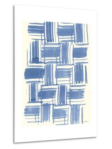 Macrame Blue VI-Vanna Lam-Metal Print