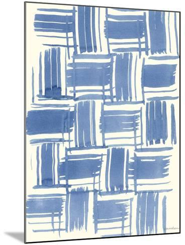 Macrame Blue VI-Vanna Lam-Mounted Art Print