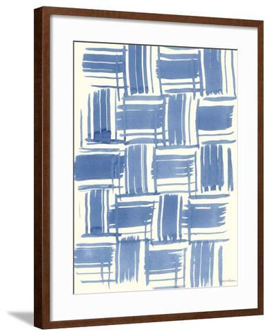 Macrame Blue VI-Vanna Lam-Framed Art Print
