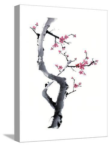Plum Blossom Branch I-Nan Rae-Stretched Canvas Print