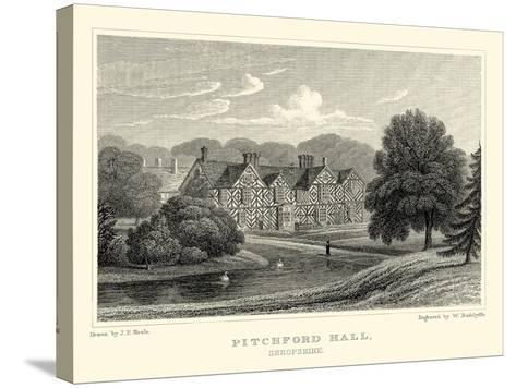 Pitchford Hall-J^p^ Neale-Stretched Canvas Print