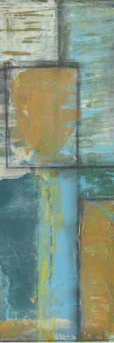Quadrant Overlay II-Jennifer Goldberger-Stretched Canvas Print
