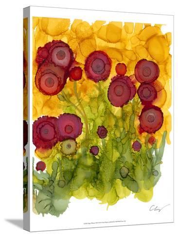 Poppy Whimsy VIII-Cheryl Baynes-Stretched Canvas Print