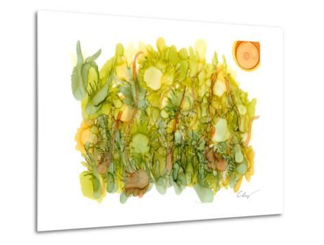 Sunlit Poppies IV-Cheryl Baynes-Metal Print