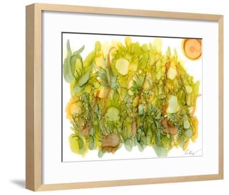 Sunlit Poppies IV-Cheryl Baynes-Framed Art Print