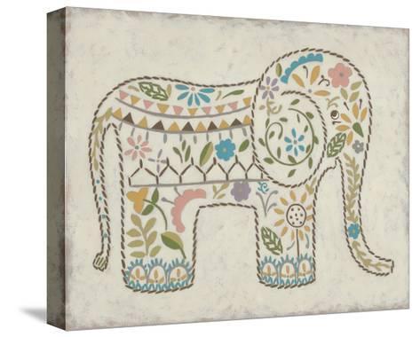 Laurel's Elephant I-Chariklia Zarris-Stretched Canvas Print