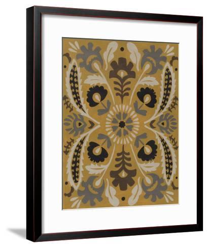 Golden Suzani I-Chariklia Zarris-Framed Art Print