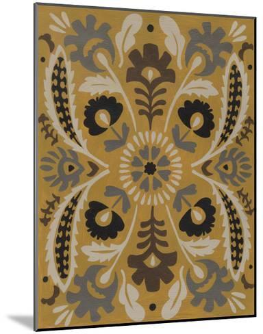 Golden Suzani I-Chariklia Zarris-Mounted Art Print