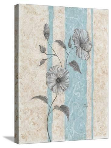 Spa Blue Hibiscus II-Judy Mastrangelo-Stretched Canvas Print
