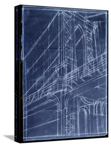Bridge Blueprint I-Ethan Harper-Stretched Canvas Print
