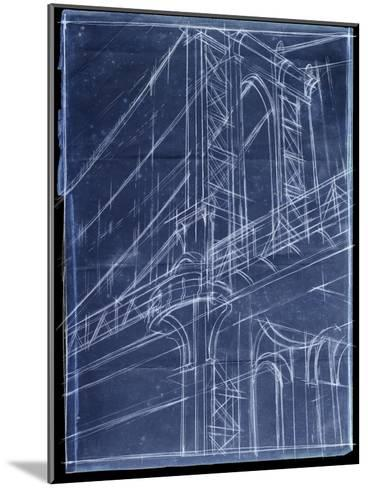 Bridge Blueprint I-Ethan Harper-Mounted Art Print