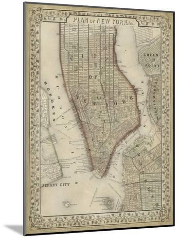 Plan of New York-Mitchell-Mounted Art Print