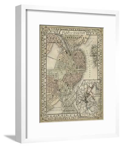 Plan of Boston-Mitchell-Framed Art Print