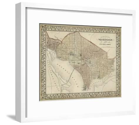 Plan of Washington, D.C.-Mitchell-Framed Art Print